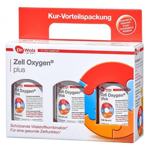 Zell Oxygen PLUS, Dr. Wolz, 3 x 250 ml